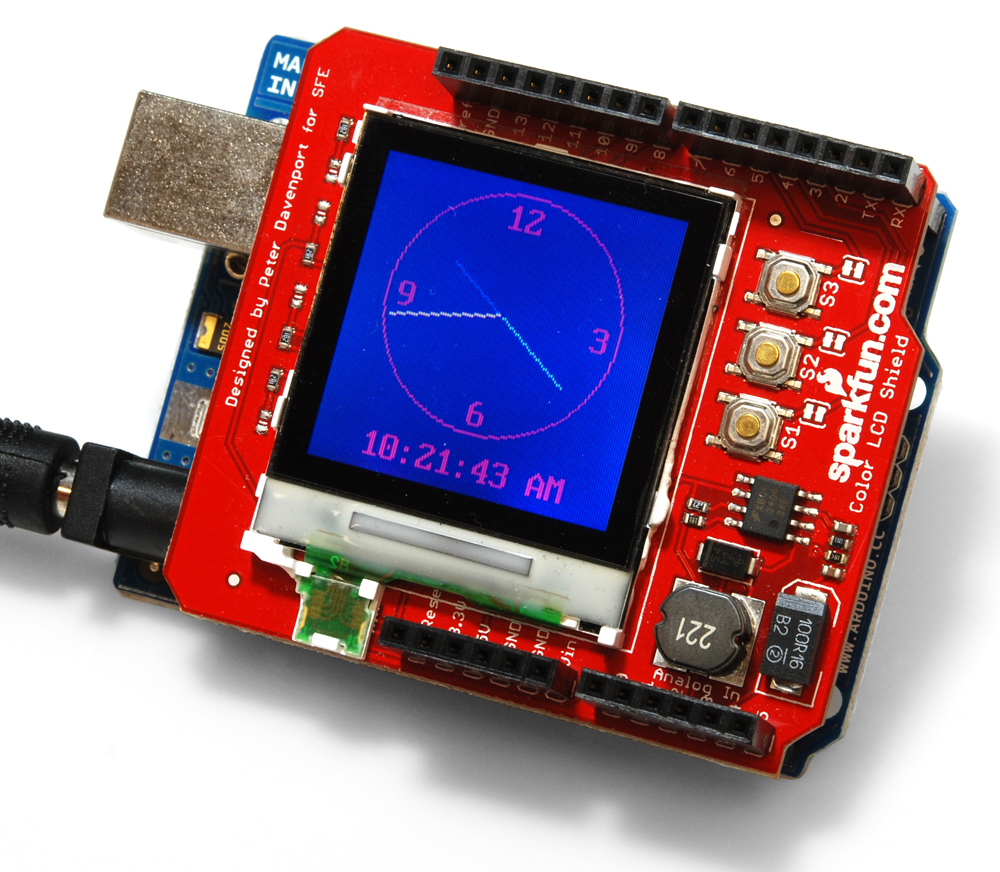 Color Lcd Shield Quickstart Guide Sparkfun Electronics Circuit Board Diagram As Well Tft Monitor Wiring On