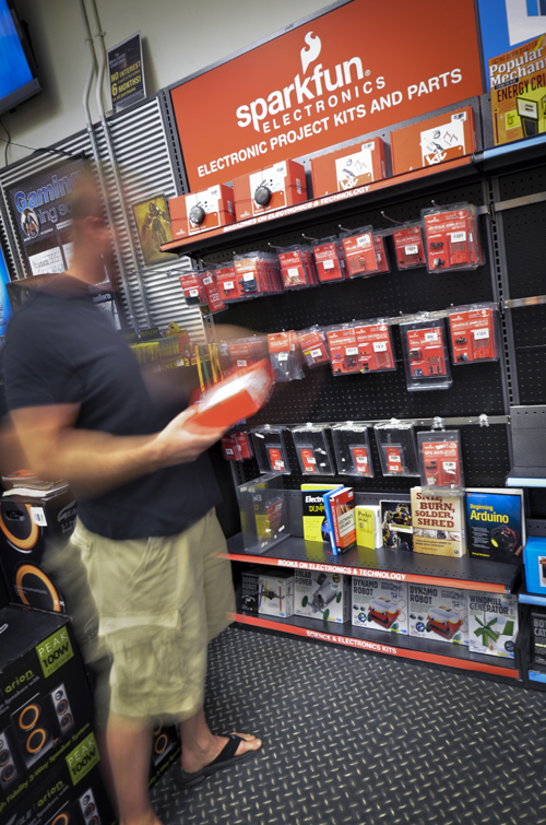 SparkFun section in MicroCenter