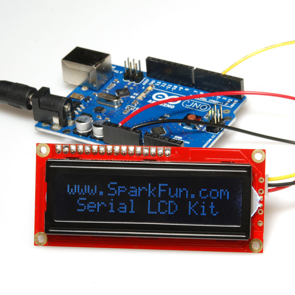 Serial Lcd Kit Quickstart Guide Sparkfun Electronics Wiring Arduino Hardware